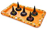 KOVOT Halloween Witch Hat Ring Toss Inflatable Game - Play For Candy Or Fun