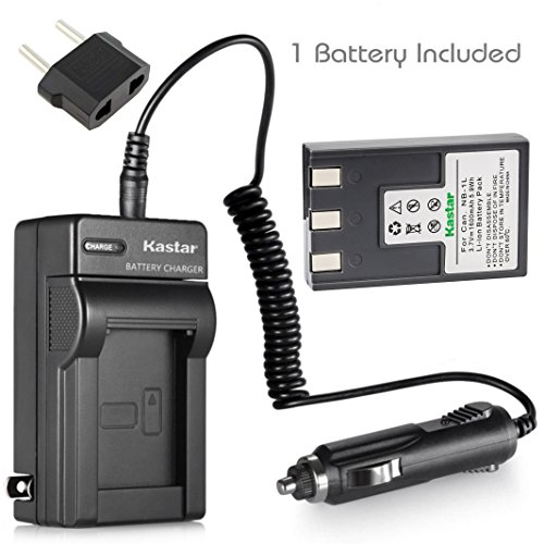 (Kastar NB-1L Battery 1-Pack and Charger Kit for Canon NB-1L NB-1LH CB-2LSE & Canon IXY Digital 200 200a 300 300a 320 400 430 450 500 S200 S230 S330 PowerShot S200)