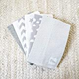 Burp Cloths 6 Pack Large 100% Cotton Washcloths