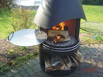 Amazoncom Outdoor Stainless Steel Fireplace And Grill Wood