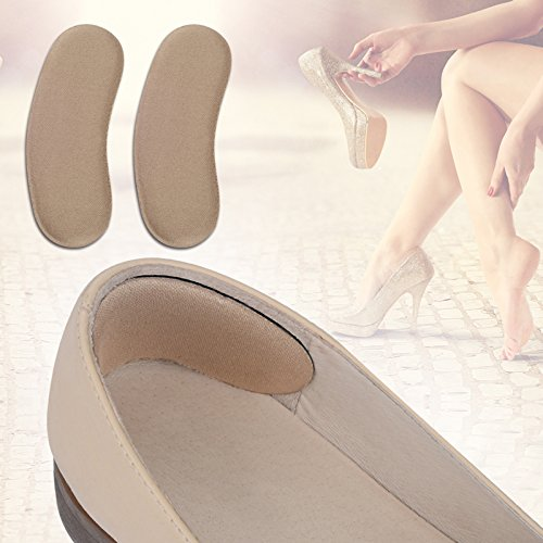Back Heels Insoles - 5 Pair High Quality Sponge Invisible Back Heel Pads for High Heel Shoes Grip Adhesive Liner Foot Care Cushion Insert Pads -