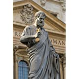 Sacred Peter's Statue in the Vatican Rome, Italy Journal: 150 page lined notebook/diary