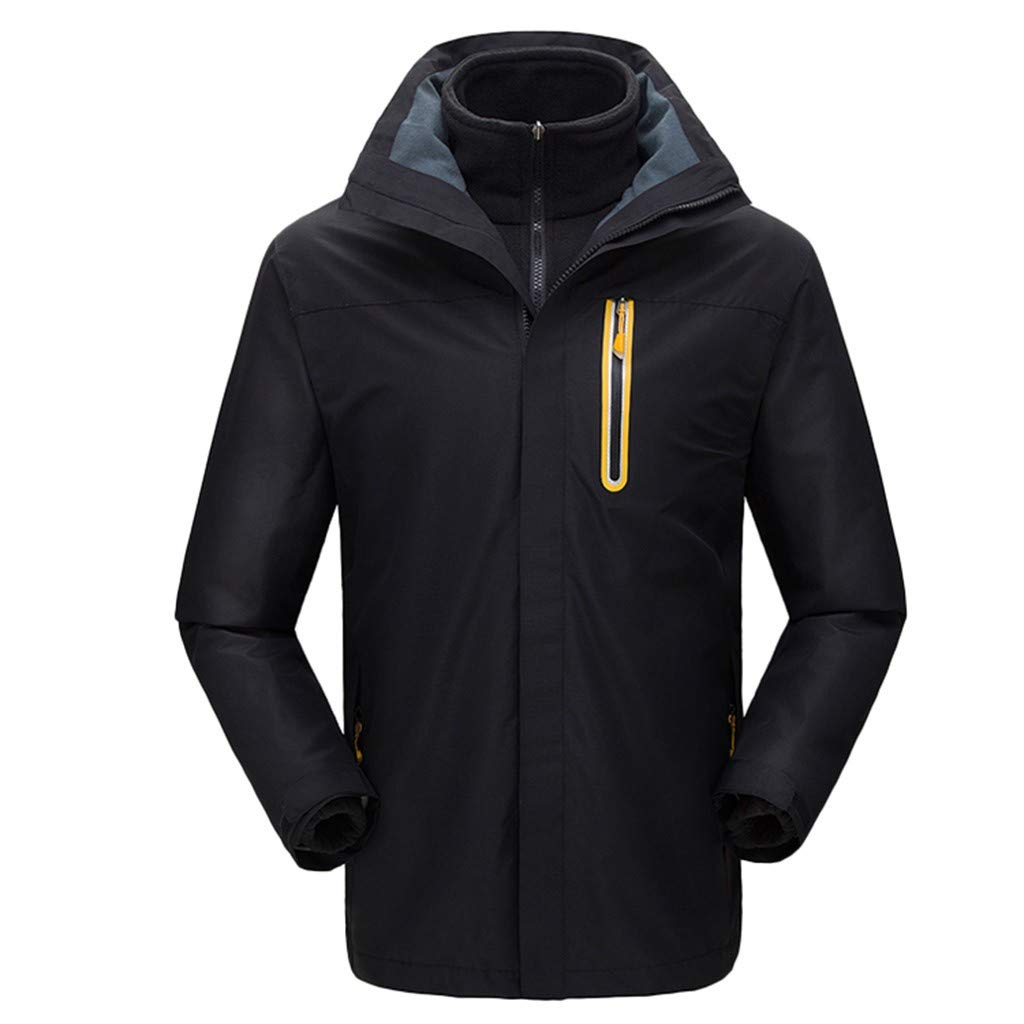 iLXHD Men Winter Hooded Softshell Windproof Waterproof Soft Coat Shell Jacket C257 Black by iLXHD