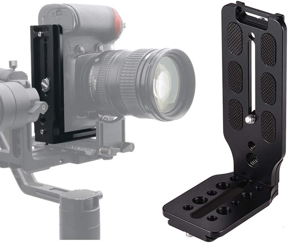 WLPREOE L Shape Quick Release Plate L Bracket Vertical Horizontal Switching Video Shooting Tripod Head Universal DSLR Camera with 1//4 Arca Swiss Screw for Canon Nikon Sony Manfrotto DJI Ronin Zhiyun