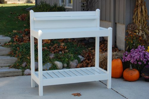 Dura-Trel 11203 Greenfield Potting Bench, White by Dura-Trel, Inc.