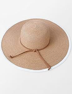 Al aire libre sombrero verano playa Resort playa Cap Big A Lo Largo Del Sombrero De Sol Plegable Sombrero De Sol personalidad tendencia sol sombrero UPF 50para mujer, 3