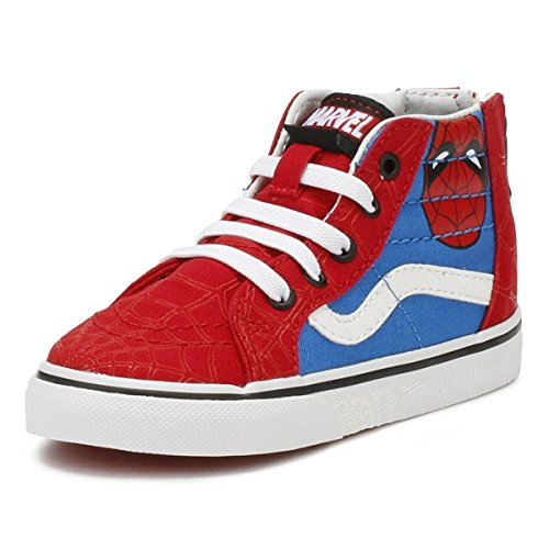 Vans SK8-Hi Zip (Marvel) Spider-Man/True White VN0A32R3U4I Todder Size 7.5