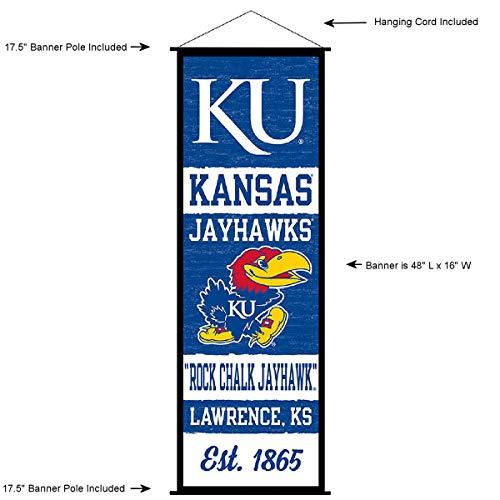 Kansas Jayhawks Banner and Scroll Sign