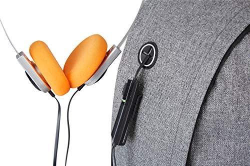 リュック メンズ ビジネスリュック バックパック ナイロン 軽量 防水 大容量 シンプル USB充電ポート イヤホン穴付き 男女兼用 通学 ビジネス グレー