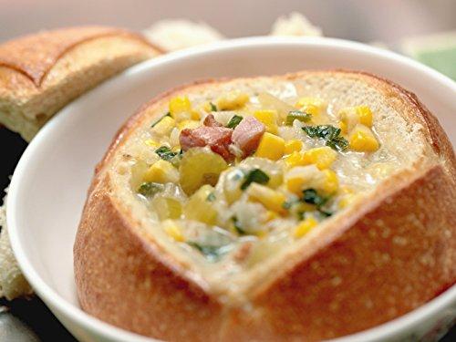 (Corn Chowder in Mini Bread Bowls)