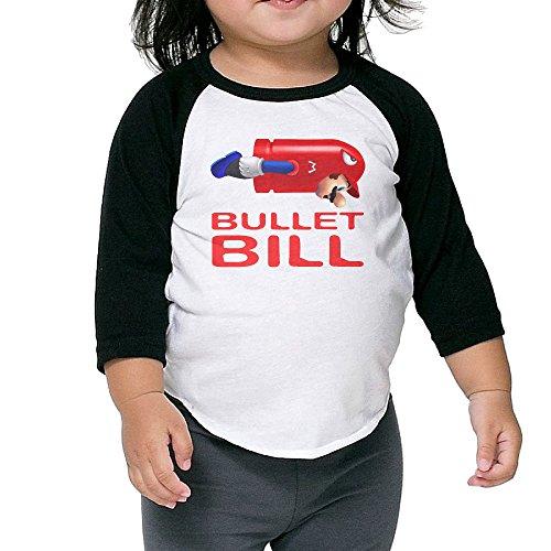 Cayonom Child Kids Bullet Bill Baseball Raglan Jersey 4 Toddler