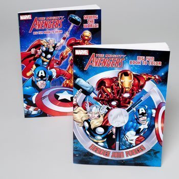 Amazon.com: 2-Pack The Mighty Avengers Marvel Heroes libro ...