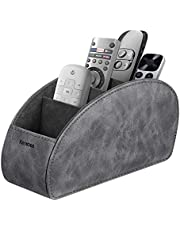 Remote Control Holder with 5 Compartments, KENOBEE Anti-slip Desktop Caddy Storage Organizer for Remote Controllers, Office Supplies, Makeup Brush, Media Accessories,