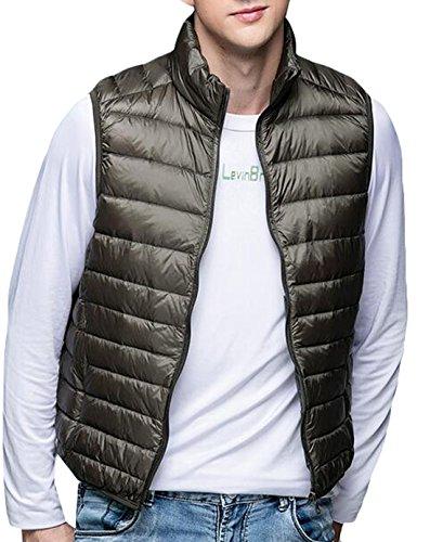 Jacket Puffer Warm Down Packable US EKU Men's Vest Winter ArmyGreen S Fashion aqYw6nx18