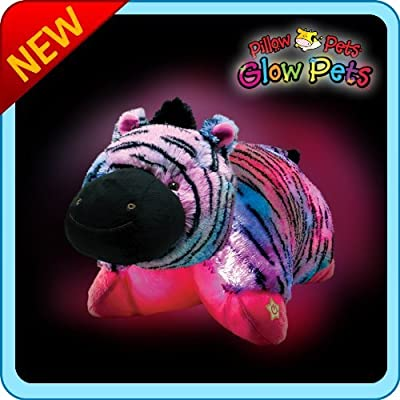 "Pillow Pets Glow Pets Zebra 17"": Toys & Games"