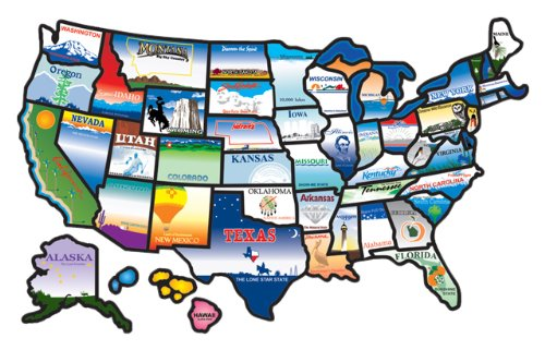 Amazon CCI 100 Permanent State Sticker Automotive – Travel Maps Usa