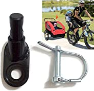 Bicycle Trailer Hitch Coupler Mount Attachment, MASO-AUTO Bike Rear Racks Axle Steel Adapter Replacement Cycli