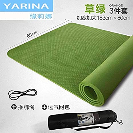 YOOMAT TPE Yoga Mat Arranque Chica Grueso Cordón Amplia ...