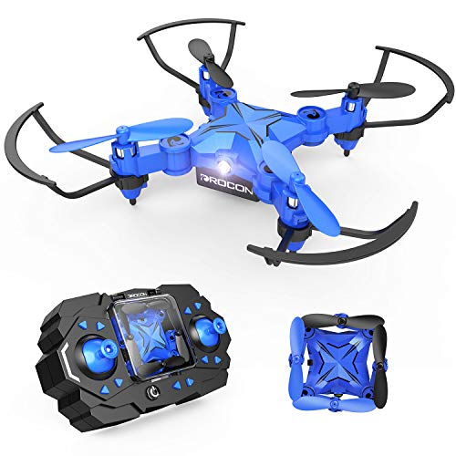 (DROCON Mini RC Drone for Kids, Portable Pocket Quadcopter with Altitude Hold Mode, One-Key Take-Off & Landing, 3D Flips and Headless Mode, Easy to Fly for Beginners, Great Gift)