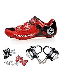 KUKOME Men's Women Road Cycling shoes & Pedals