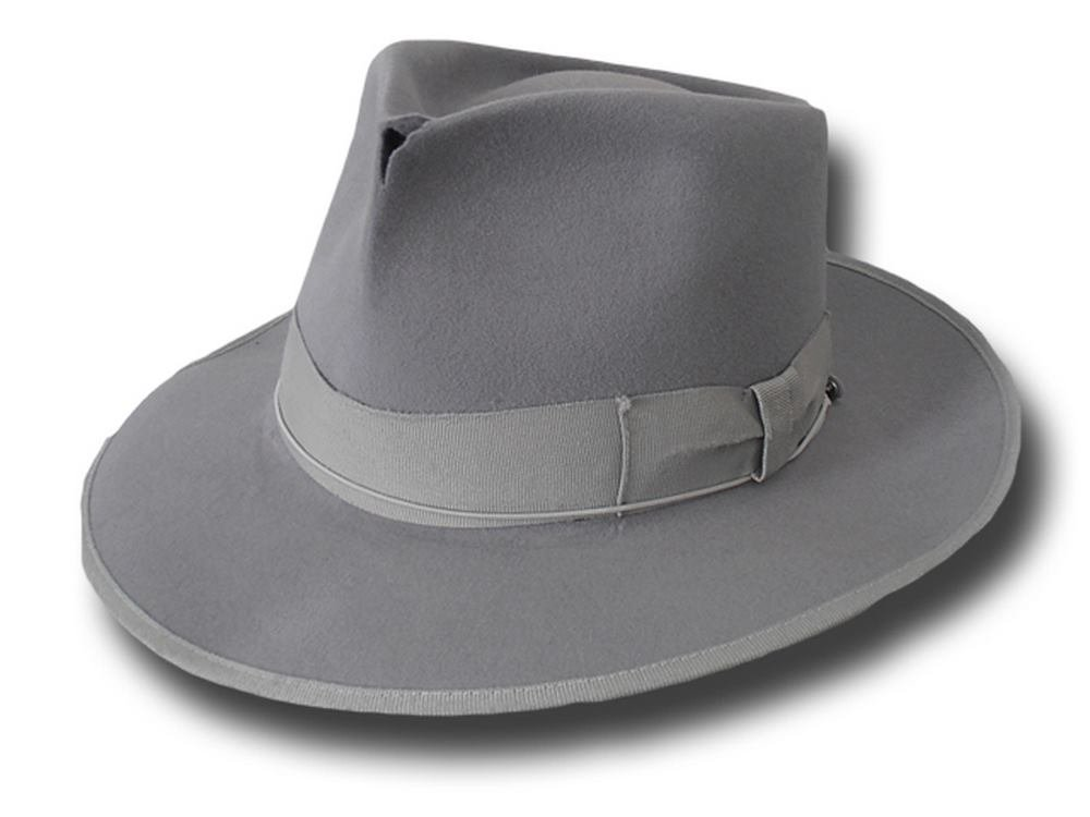 Amazon.com  Fedora Johnny Depp top quality hat antiqued Grey  Handmade 9aeaa20b600
