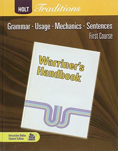 Warriner's Handbook, First Course ()