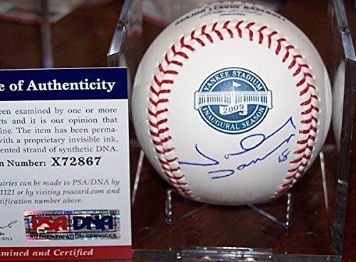 Autographed Damon Baseball Johnny (Johnny Damon Autographed Baseball - Yankees 2009 Yankee Stadium Inaugural + COA - PSA/DNA Certified - Autographed Baseballs)