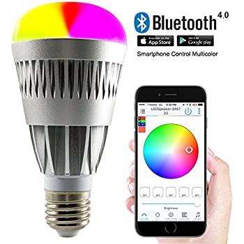 Bluetooth Smart Light Bulbs Remote Control Lights with Smartphone Dimmable  Color Changing Lights - 10.0 Watts