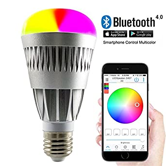Bluetooth Smart Light Bulbs Remote Control Lights with Smartphone ...