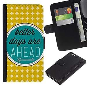 Planetar® Modelo colorido cuero carpeta tirón caso cubierta piel Holster Funda protección Para Apple (5.5 inches!!!) iPhone 6+ Plus / 6S+ Plus ( Mejor Días Retro Vintage Verde Azul )
