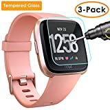 QIBOX Screen Protector Compatible Fitbit Versa, 3 Pack...