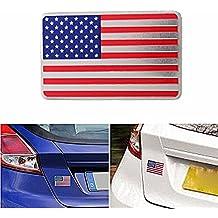 Exterior Accessories - Car American Usa Flag Emblem Sticker Metal Badge Decal Decor Universal For Truck Auto - American Flag Emblem - 1PCs
