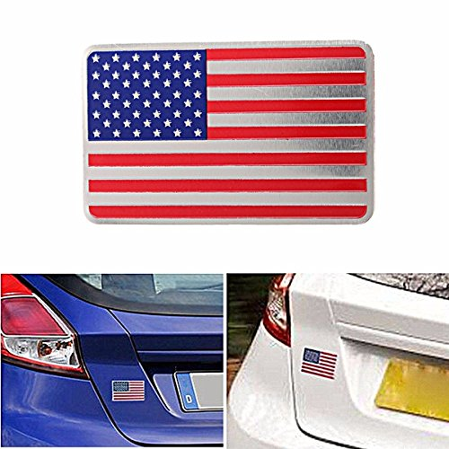 Exterior Accessories - Car American Flag Emblem Sticker Metal Badge Decor Universal Truck Auto - Slack Off Sword Lily Slacken Iris Fleur-De-Lis Signal Ease Language Pin - -