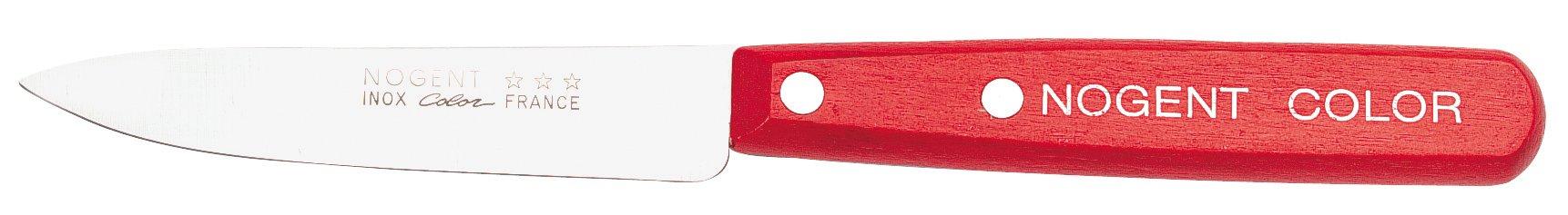 Nogent Color 3-1/2-Inch Sharpened Paring Knife, Cherry Wood Handle