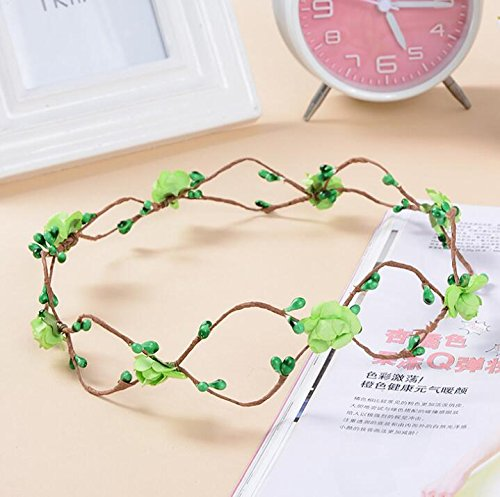 Traveling Green Decoration Hair Supplies Party Garlands Headdress Bridesmaid Bridal ncie Un wxFP11