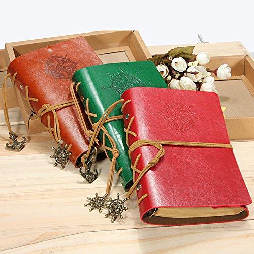 ShopSquare64 Klassische Retro Weinlese Leder Journal Notizbuch Tagebuch Buch B07J2HPQMS    | Hochwertige Produkte