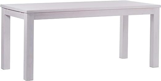 Brasil Muebles Mesa de Comedor Rio Clásico, 160 x 80 cm Blanco ...