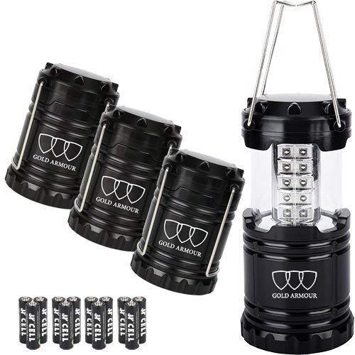 Gold Armour LED Lantern Camping Lanterns 4Pack - Camping Equ