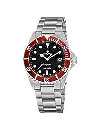 Grovana Men's 1571.2136 Diver Diver Dial Bezel Automatic Black Dial Watch