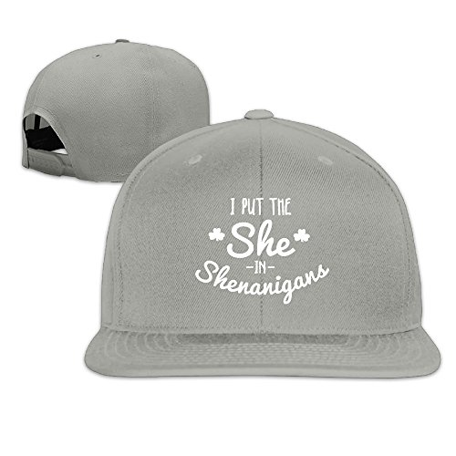 I Put The She In Shenanigans Flat Brim Baseball - Shops Airport In Chicago