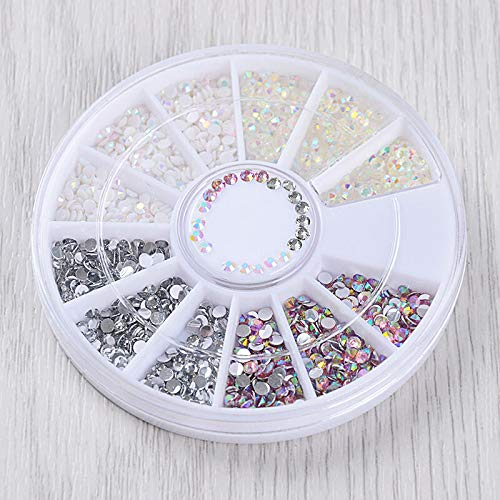 (Nail Rhinestones Glitters Crafts Studs 3D Nail Art Decoration Manicure Wheel DIY (Pattern - #22))
