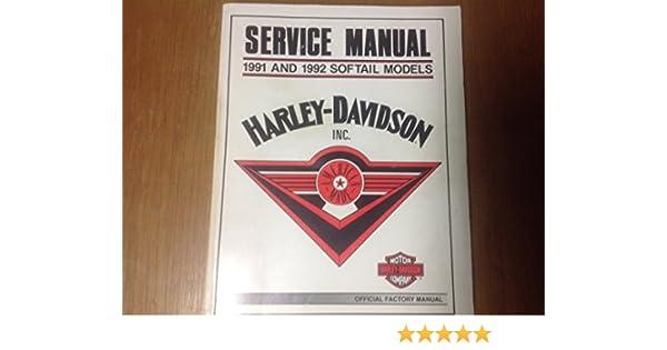 harley davidson service manual 1991 and 1992 softail models rh amazon com 1992 Harley Sportster 1992 Harley- Davidson