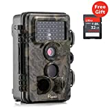"Wildlife Camera, Papake 12MP 1080P HD Night Vision Infrared Trail & Game Camera 42 Pcs Ir LEDs 120°Wide Angle 2.4"" LCD Display Waterproof IP66 3 Zone Infrared Sensor Hunting Scouting Camera (Green)"