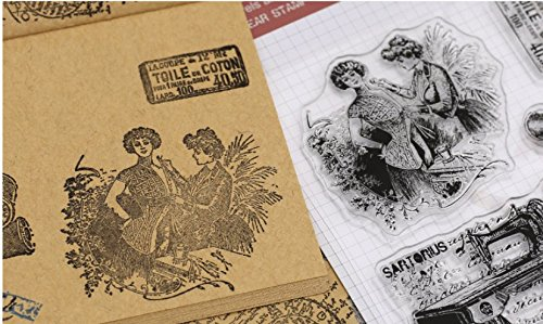 Layhome Vintage Clear Stamp Stamping Scrapbooking Notebook Album Cards Decor New Arrival (Sewing Machine) by Layhome (Image #1)
