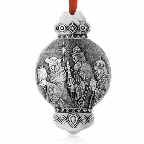 (Wendell August Nativity Kings Ornament, Metal, Handmade in The USA Forge)