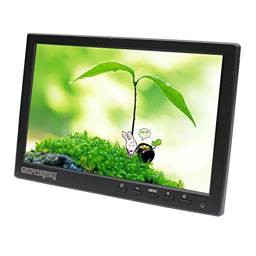 Sourcingbay Mini 10 inch CCTV LCD Monitor for Security Surveillance System,Support HDMI/BNC/VGA/Video/Audio,1280*800,16:9
