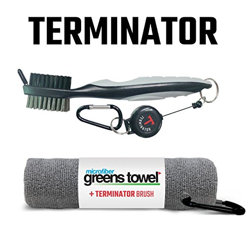 Greens Towel Plus Terminator Club Brush (Silver-Silver)