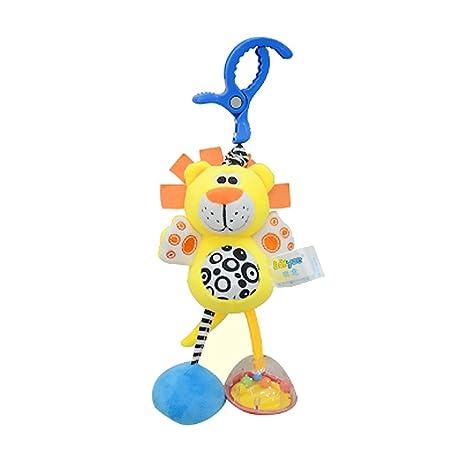 Hemore Baby Products 1 pcs Bébé Pull chocs à suspendre Hochet infantile Dessin animé Lit Poussette à suspendre jouet en peluche (Cute Lion)