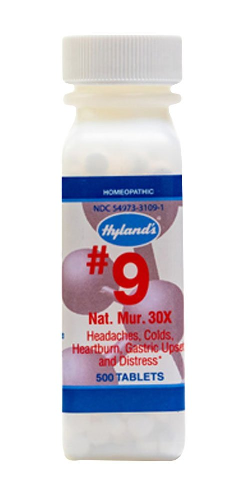 Hyland's Natrum Muriaticum, 30X, No. 9, 500 Tablets (Pack of 3)