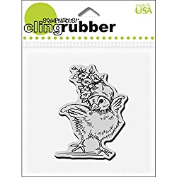Stampendous Cling Rubber Stamp, 3.5 By 4-inch, Floral Bonnet